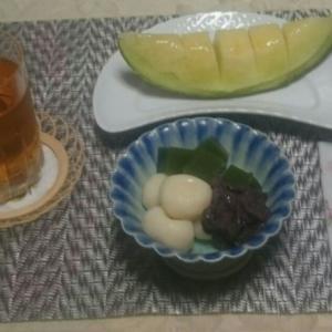 豆腐白玉抹茶寒天つぶ餡添え(レシピ)