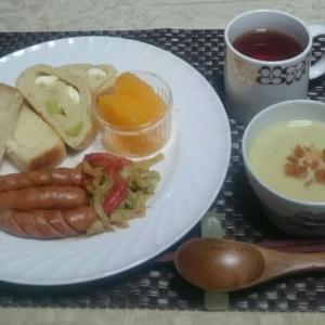シニア夫婦の朝ごはん(スープ作り方)