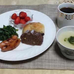 シニア夫婦の朝食1月4日、白菜と里芋スープ(作り方)