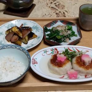シニア夫婦の晩ご飯1月5日里芋まんじゅう(作り方)