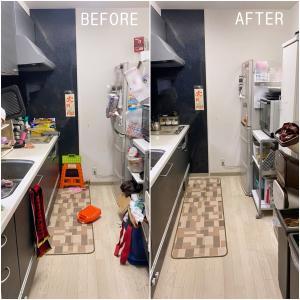 キッチン整理のコツは「カテゴリー別にわける」「動線を短くする」!整理収納BEFORE&AFTER。