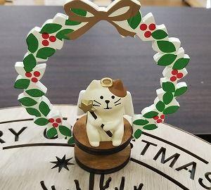 手作り ハンドメイド~ネコ好きにはたまらない!ほっこりクリスマスリース♪