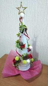ハンドメイド☆ おうちでクリスマス!鮮度が変わらない手作り卓上ツリー♪
