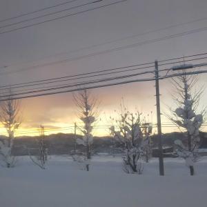 2021年元旦☆ 北海道の初日の出はおめでたい紅白の景色!画像付き