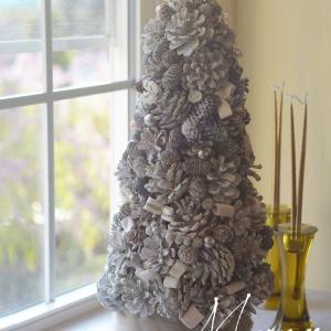 お嬢様へのクリスマスプレゼント♪bloomishビッグコーンツリー♪福岡プリザーブドフラワー