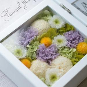仏花とお供えようフォトフレーム♪福岡プリザーブドフラワー