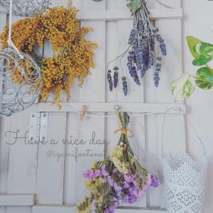 自粛生活中、花を飾る