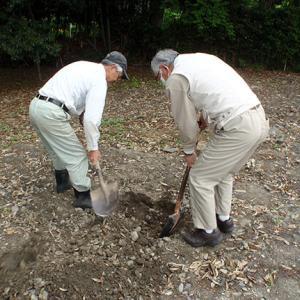 湯殿神社サクラ苗木植樹