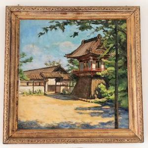 熊谷市立奈良小学校展示 山下仙之助『集福寺』