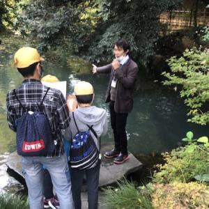 熊谷市名勝「星溪園」で熊谷市立石原小学校の修学旅行