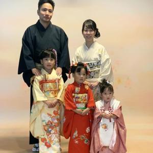 中村家七五三 三姉妹の着物