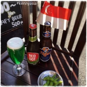 8月9日シンガポールビールでちょっとサービス