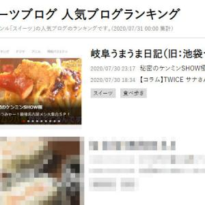 スイーツブログ1位、ありがとうございます!