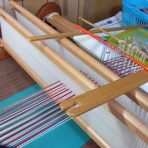 フィン織り・・ハート模様で練習しました。