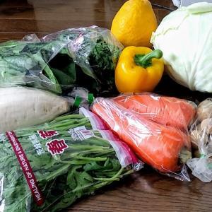 街角で買った野菜&ベランダ