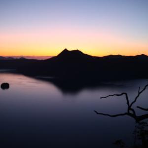 摩周湖の日の出