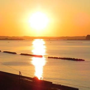 厚岸湾の日の出