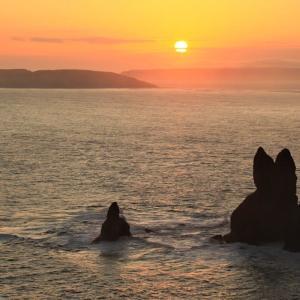 奇岩・・夕日うさぎ岩