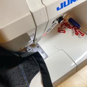 今日はバッグ縫いやってました(そして未完)