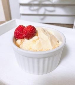 食後のデザート♪~手作りバニラアイス~