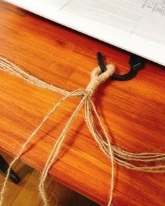 麻紐を使って。〜ハンギンググリーン〜