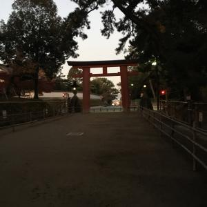奈良マラソンの朝