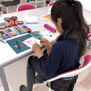 10月のパステルアート子供教室を開催しました♪