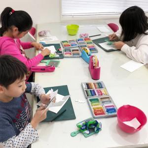 12月のパステルアート子供教室を開催しました♪