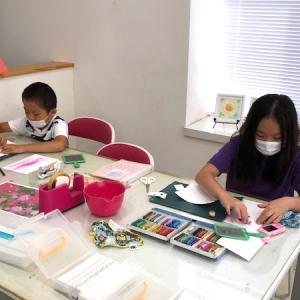 9月のパステルアート子供教室を開催しました♪