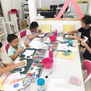 8月のパステルアート子供教室を開催しました♪