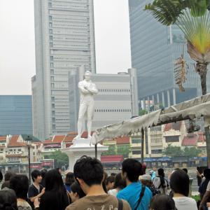 シンガポール・マレーシア7 ラッフルズ卿上陸地点