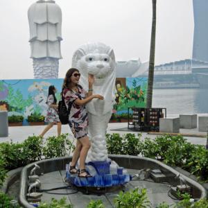 シンガポール・マレーシア9 マーライオン公園