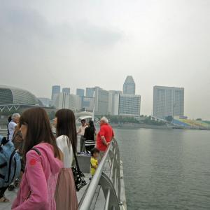 シンガポール・マレーシア10 マーライオン公園2