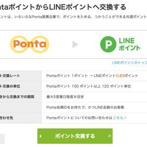 PontaポイントからLINEポイントへの交換!
