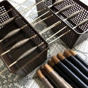 絹糸の残糸使用でストール準備♪