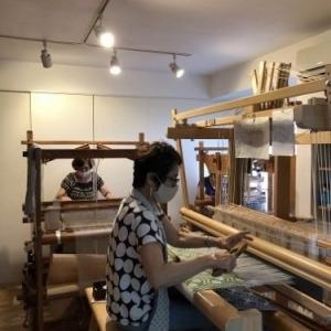 8月織物教室の様子