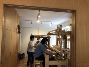 10月織物教室の様子