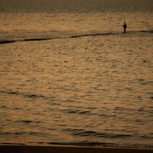 海面を歩く