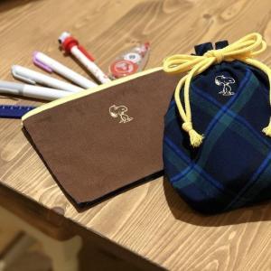 これからの季節にぴったりな『チェック×コーデュロイ』のバッグ&ポーチが、西宮阪急のPeanuts LIFE&TIMESで販売中!