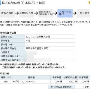 【みずほFGの株式移管】auカブコム証券から1万円のプレゼント!