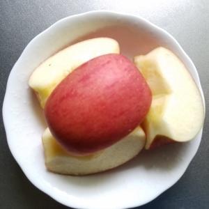 体質改善の朝ごはんに皮つきリンゴ