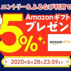 【6/28まで】ふるなびでエントリー&ふるさと納税で最大5%Amazonギフト券プレゼント