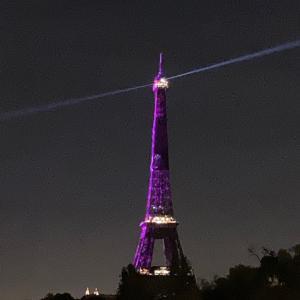紫のエッフェル塔と久しぶりの