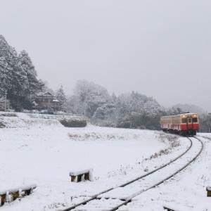 【日々是好日小湊鉄道】 雪の石神 2018-2-2