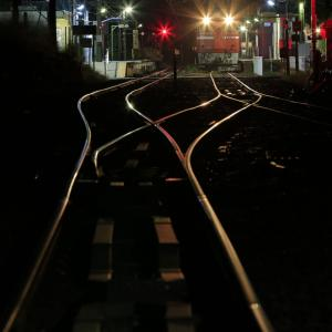 深夜の翁島駅に停車する、ED75-759を撮る!(翁島工臨撮影編)