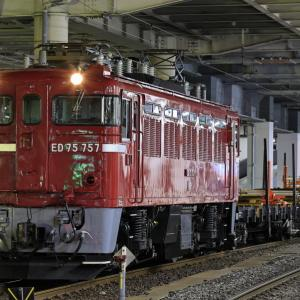 ED75-757牽引の作並工臨