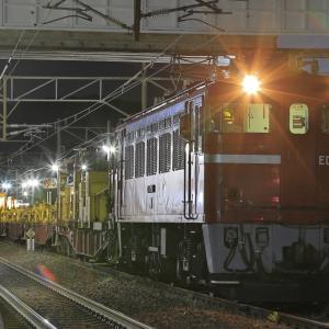 真夜中の藤田駅に停車する岩切ロンチキを撮る!