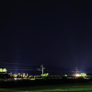 奥羽本線のロングレール取卸し作業