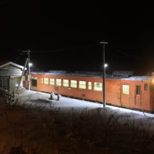 吹雪の驫木駅に停車する、タラコ色のキハ40を撮る!