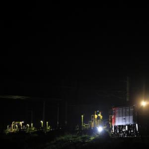 深夜の奥羽本線を南下する、ED75牽引のロンチキを撮る!